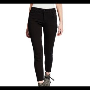 DL1961 Florence Cropped Mid Rise Skinny Black 29